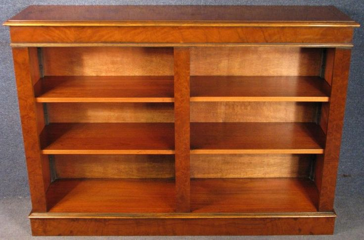Victorian Style Burr Walnut Bookcase / Bookshelves #VictorianStyle
