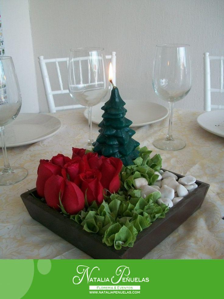 Mejores 7 im genes de centros de mesa navide os cl sicos - Arreglos navidenos para mesa ...