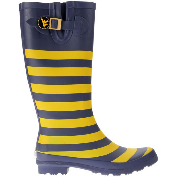 West Virginia Mountaineers Lillybee U Women's Rain Boots with Logo Snap - $83.99