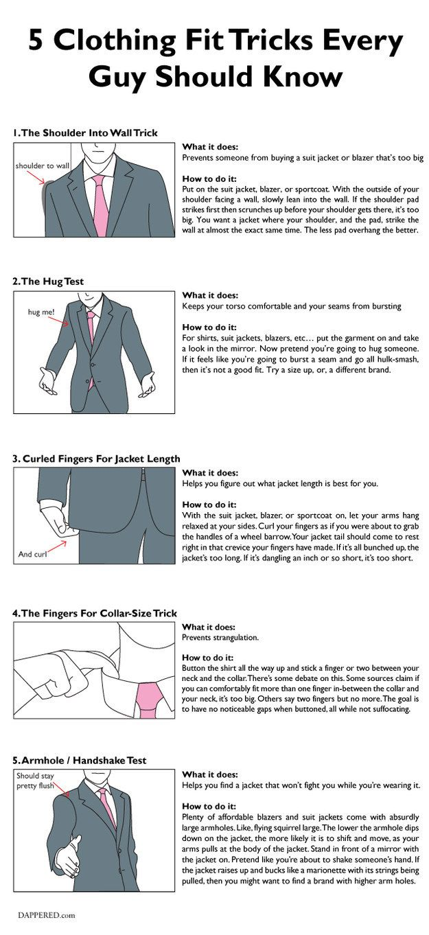 If you're buying a suit, you should definitely try these ~quirky~ tricks.   25 Life-Changing Style Charts Every Guy Needs Right Now