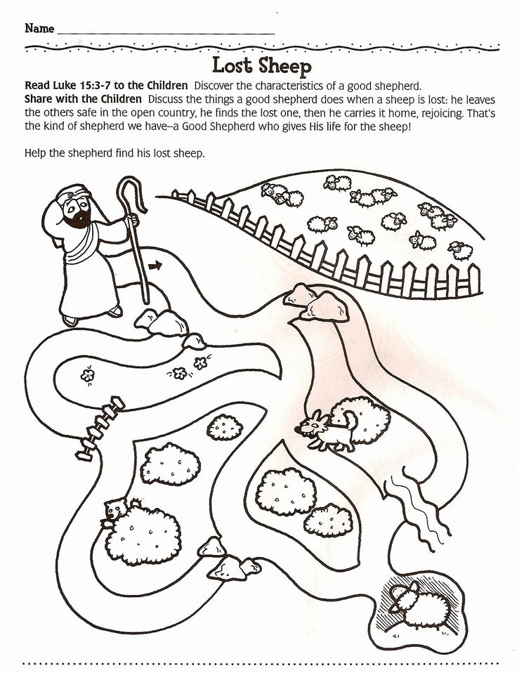21 Parable Of the Lost Sheep Coloring Page in 2020
