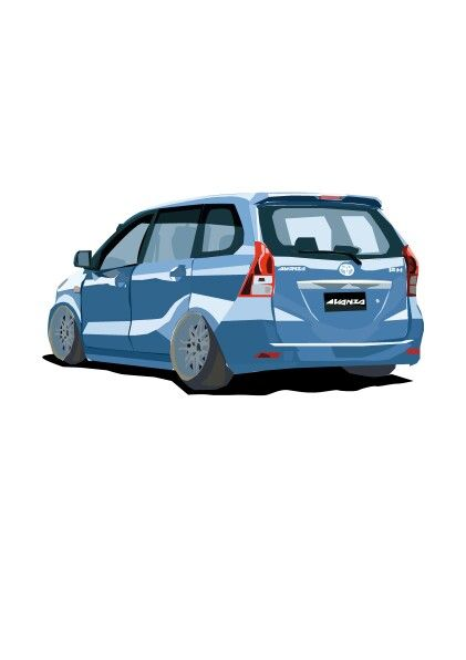 Toyota avanza vector by adry_Art