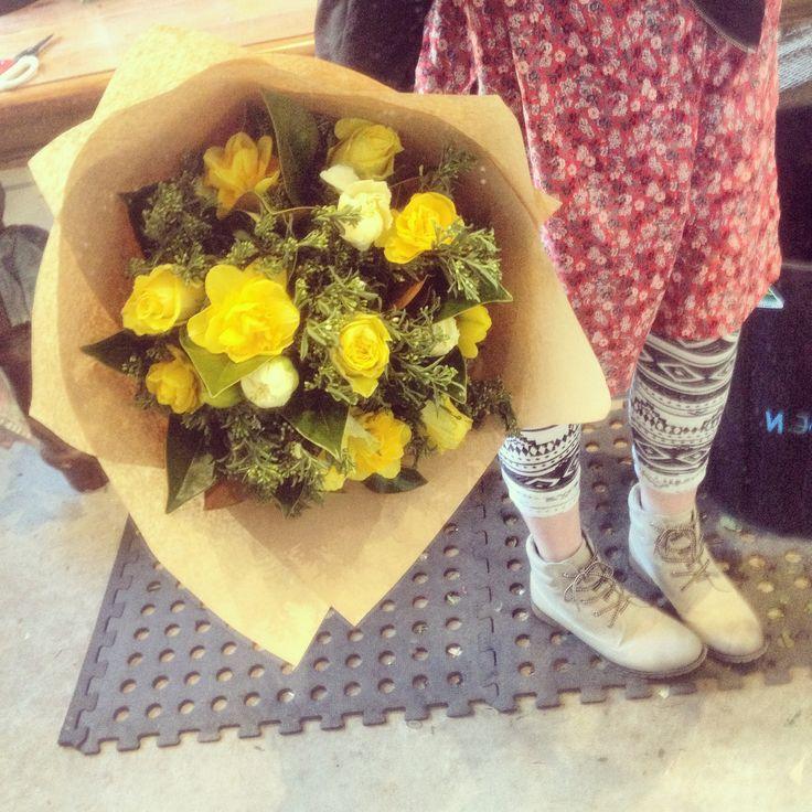 Yellow happy flowers :) & mixed foliage