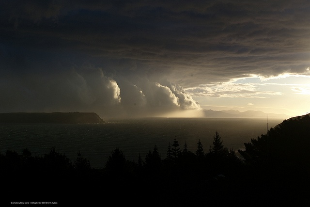 Overlooking Mana Island from Plimmerton by metservice.nz, via Flickr