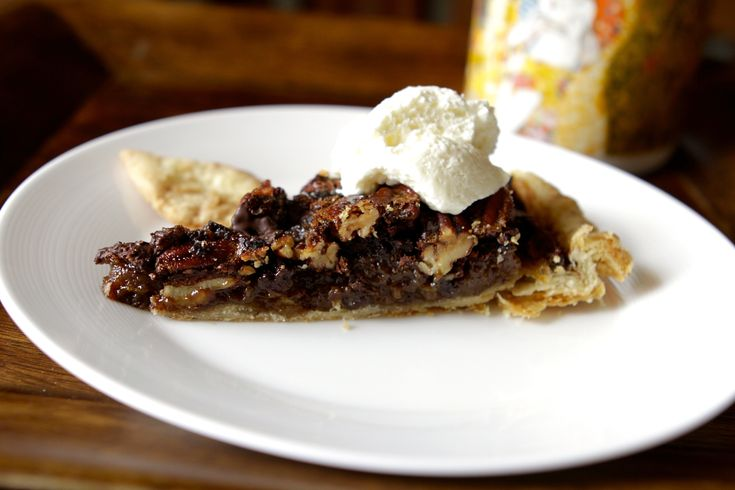 Chocolate Espresso Pecan Pie. Rich and intense with dark chocolate ...