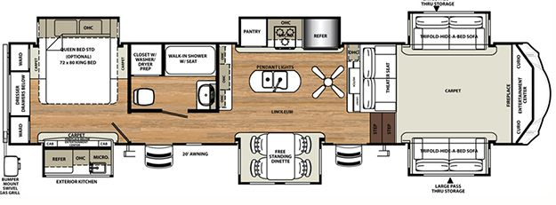 Sandpiper Fifth Wheels by Forest River RV 379FLOK