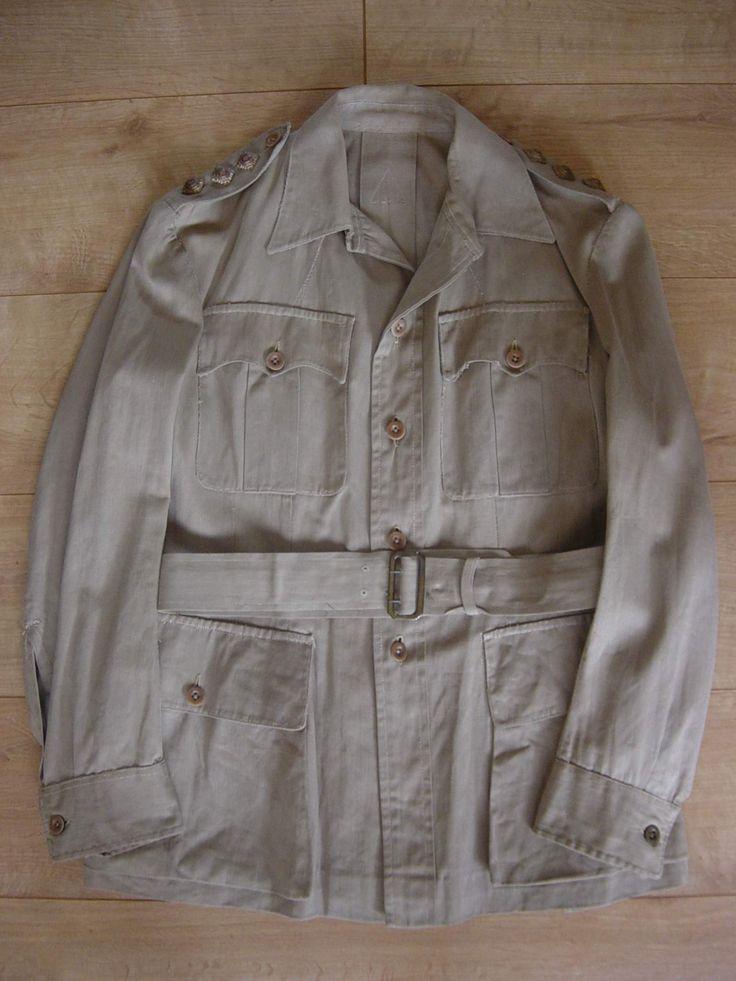 WW2 British Khaki Drill Jacket. The tropical weight ...