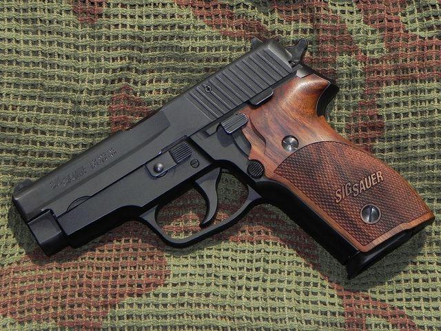 SIG-Sauer P228 - Nills wood grips