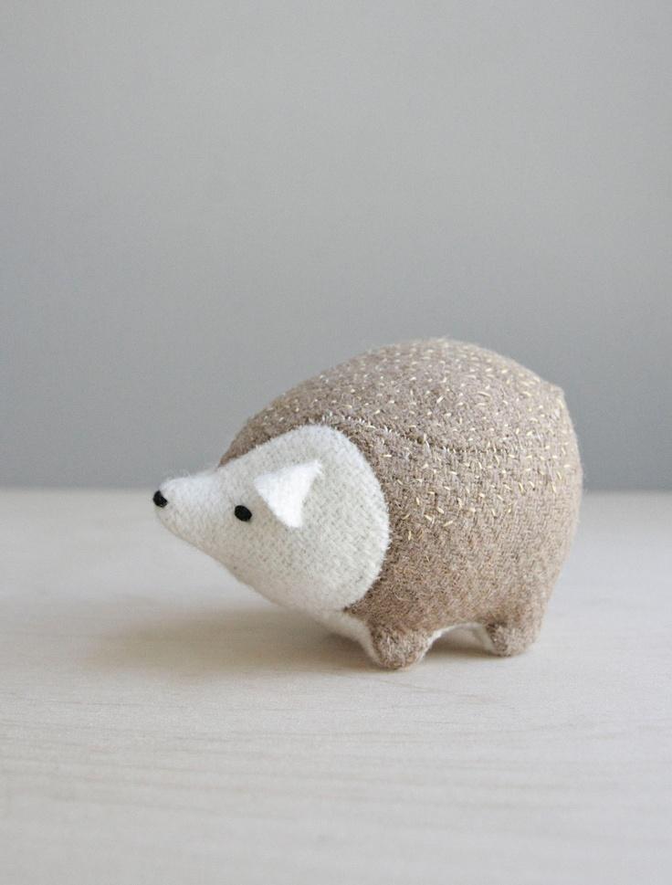 hedgehog / soft sculpture animal. $65.00, via Etsy.