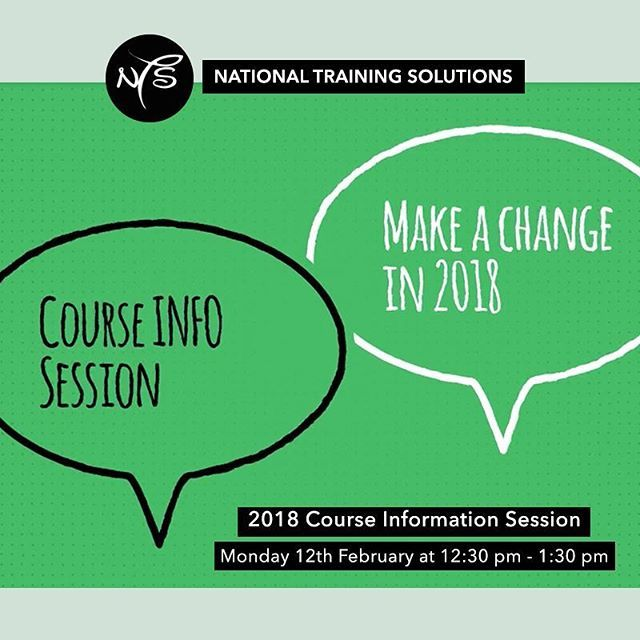 Today's the day! See you at our 2018 course information session for 12:30pm - 1:30pm www.ntsn.edu.au