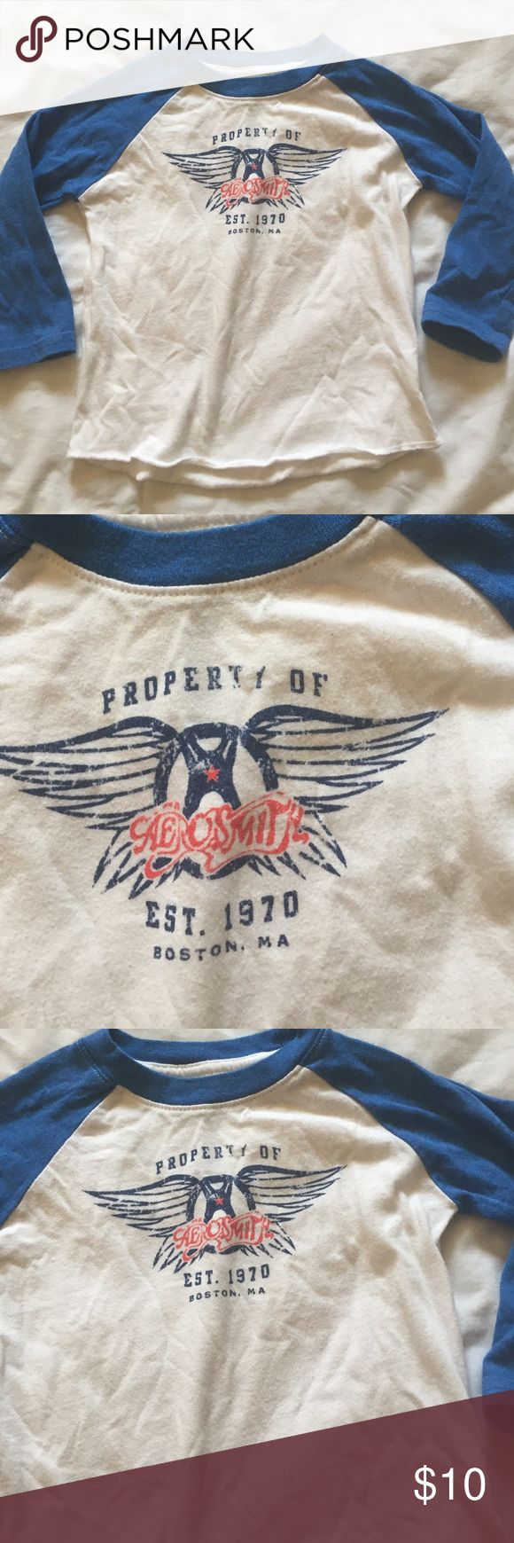 Aerosmith baseball tee / raglan / band tee Aerosmith Tee / great condition // FALL SALE Aerosmith Shirts & Tops Tees - Long Sleeve