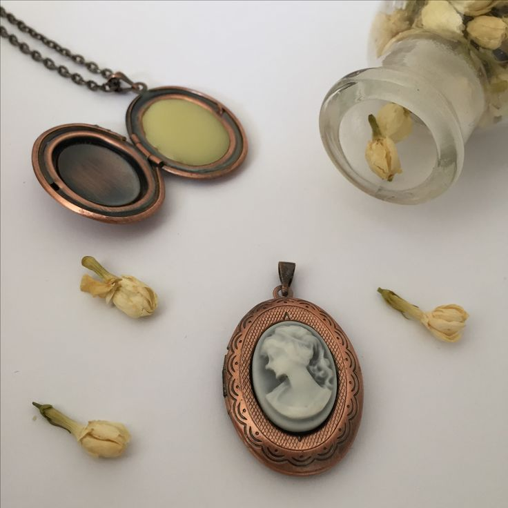 Add a bit of vintage style to your outfit with one of our organic Jasmine Scent Lockets. www.legatoperfume.com.au