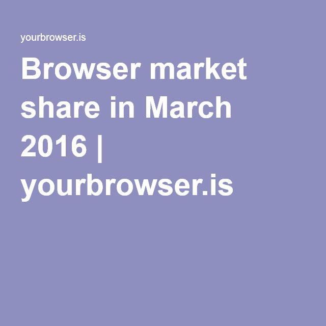 Browser market share in March 2016  http://yourbrowser.is/browser-market-share/2016/03/