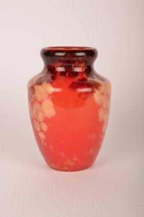 """Schneider """"Jade"""" vase.Glass Vase, Glasses Vases, Art Glasses"""
