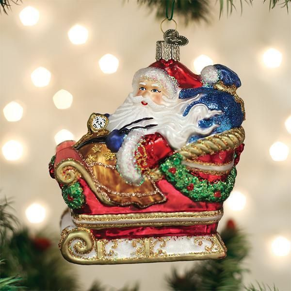 Santa In Sleigh Ornament Old World Christmas Traditional Christmas Ornaments Old World Christmas Christmas Traditions