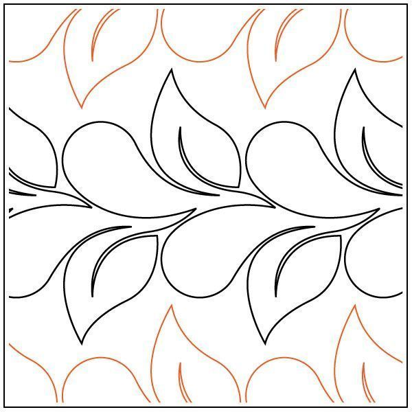 Flirty Feathers And Leaves Gestepptes Pantographmuster Von Jessica Schick Deb K Quiltmuster Quilten Und Schablonen