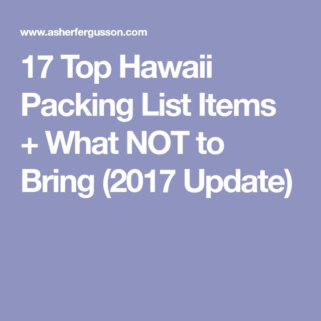 Travel Insurance Quotes Usa: Best 25+ Hawaii Packing Lists Ideas On Pinterest