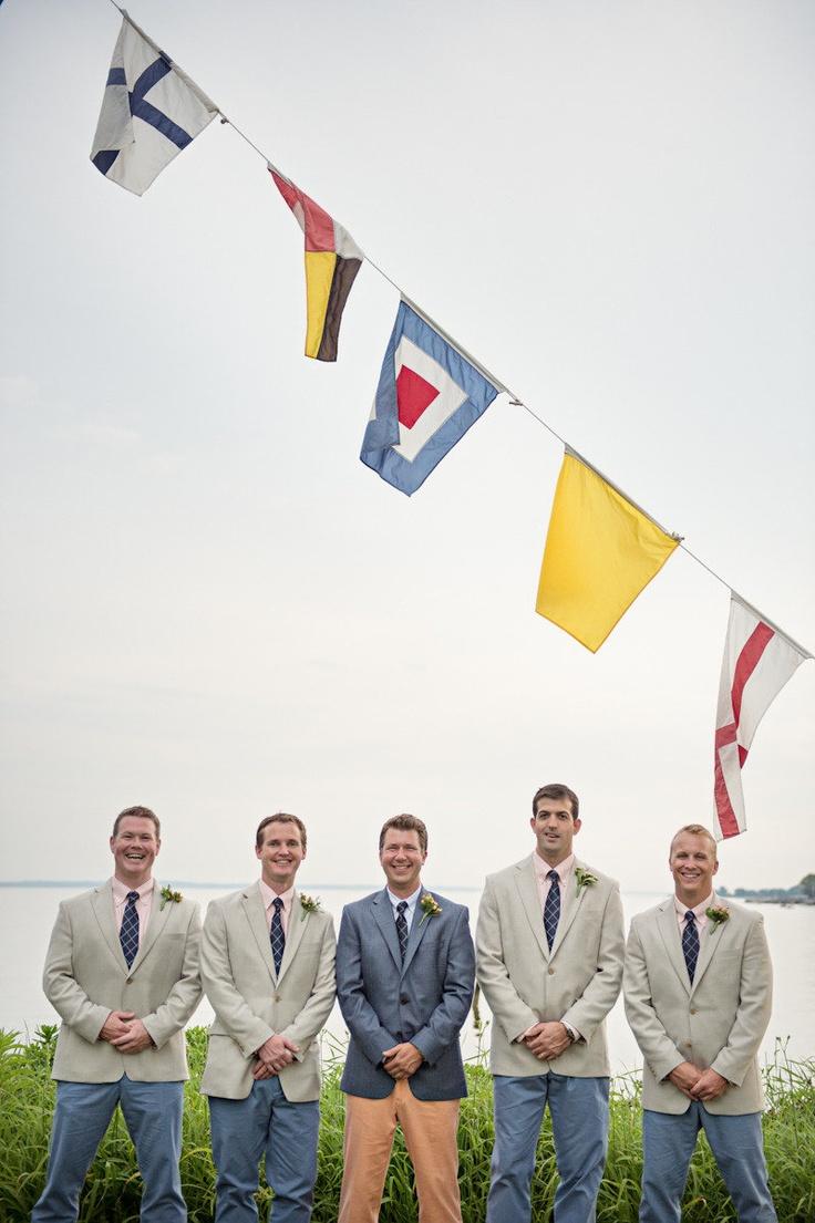 nautical wedding flags