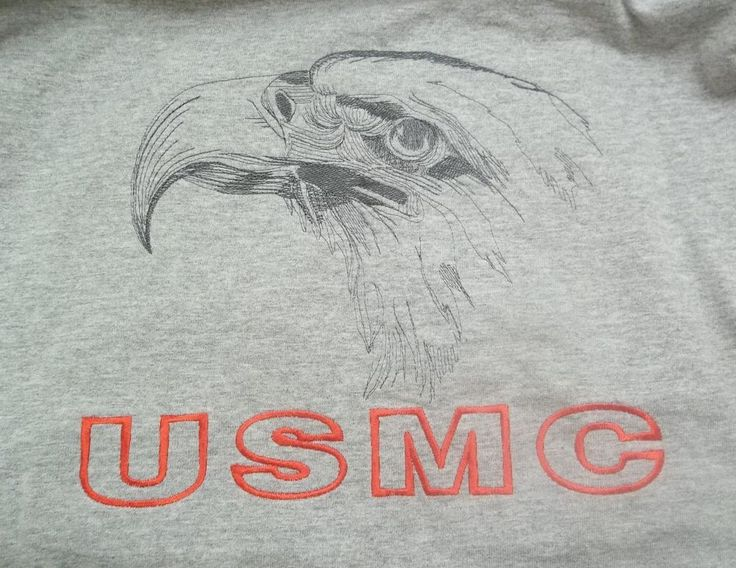 U.S. Marines Embroidered Eagle USMC T-Shirt Adult XL X-Large #Soffe #BasicTee