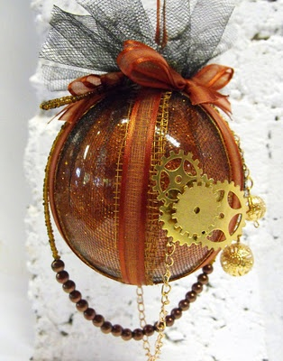 """""""Steampunk"""" Christmas ornament from Epbot blog."""