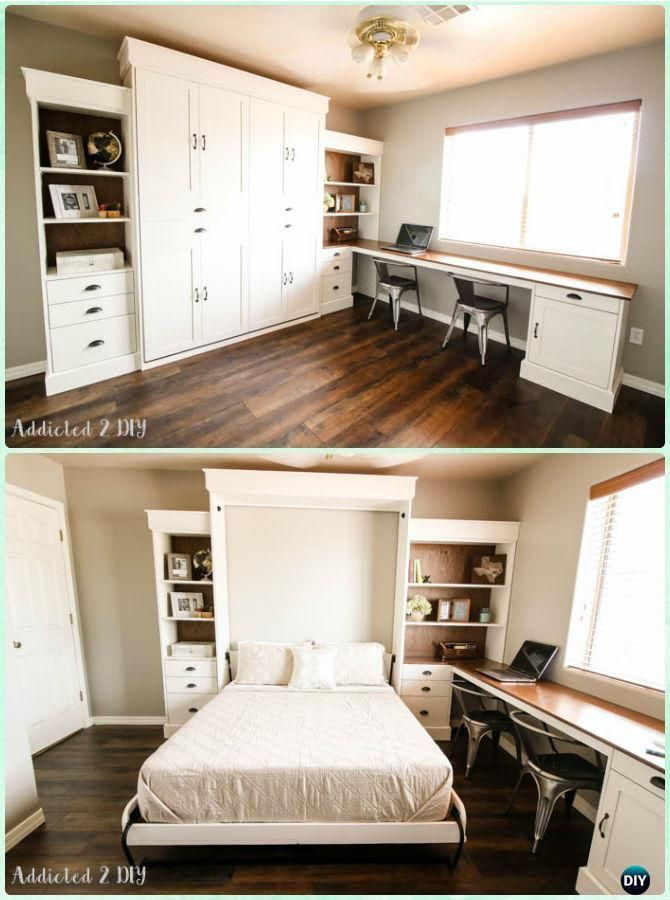 DIY Modern Farmhouse Murphy Bed Instructions - DIY Space Savvy Bed Frame Design Concepts Instructions