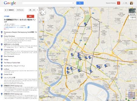 { MAP } タイ国際航空で行く!女子ふたり旅 IN バンコク