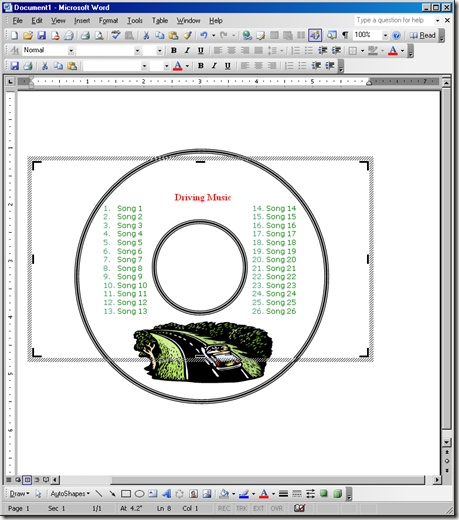 Create Your Own CD and DVD Labels using Free MS Word Templates