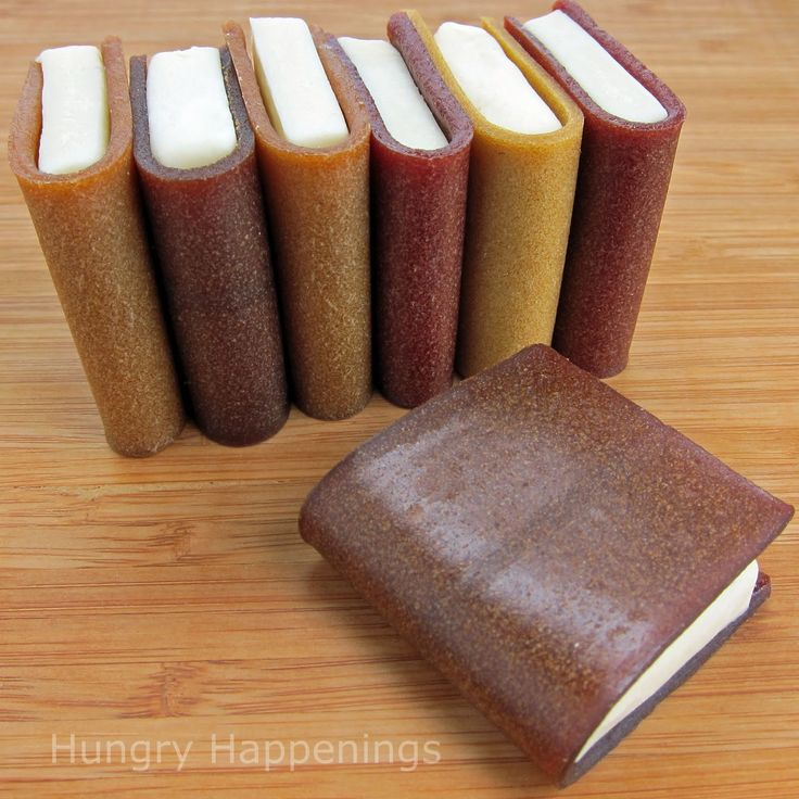 Hungry Happenings: How to create school books using corn syrup free modeling chocolate and fruit leather. A fun snack for end of the school year parties.