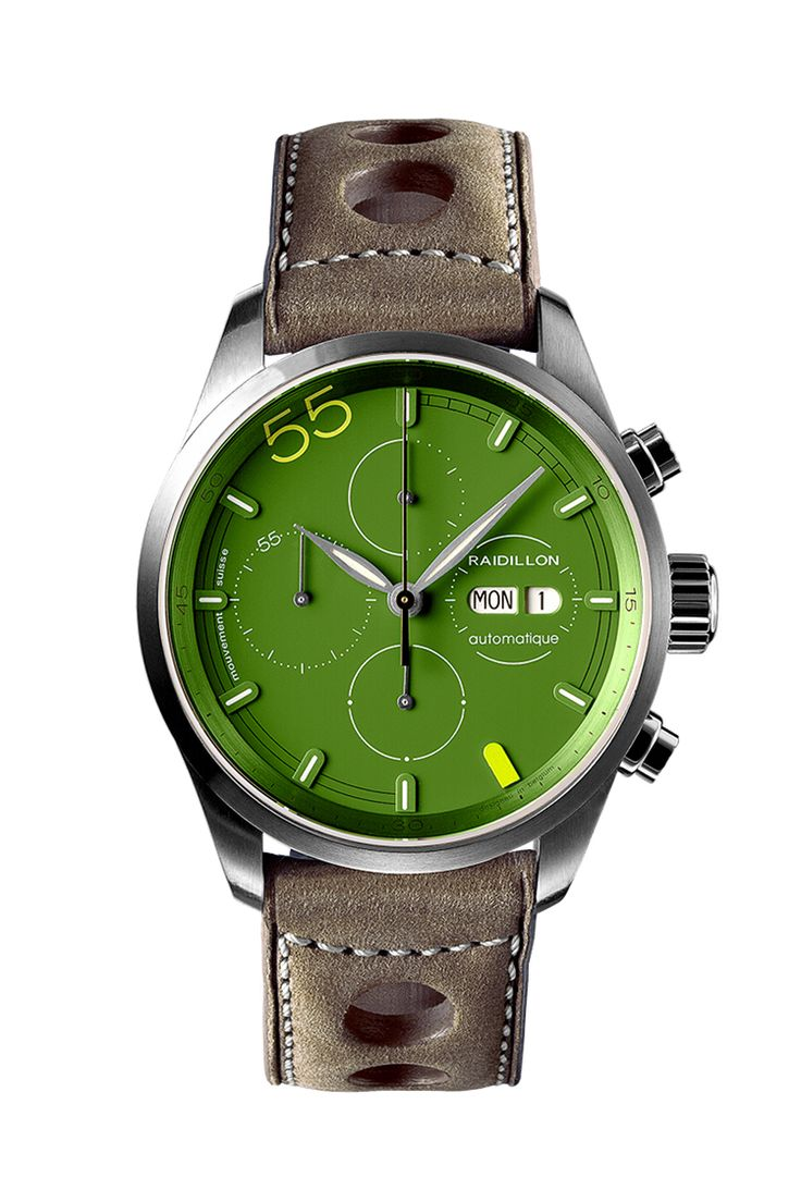 green ferro watch products chrono quartz agl dial face copy watches pilot next