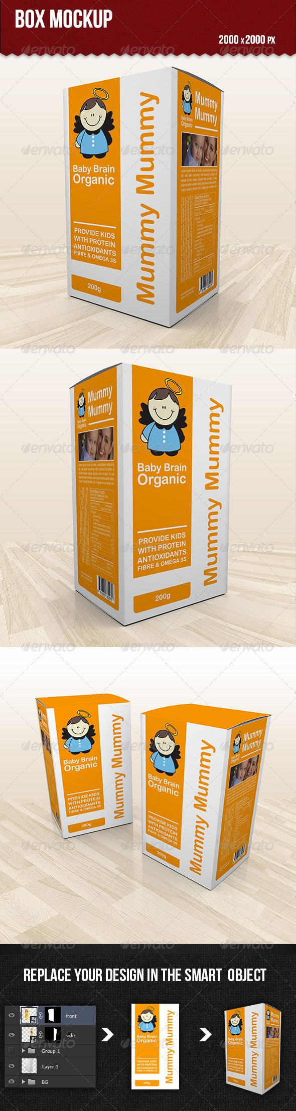 Box Mockup — Photoshop PSD #box psd #promotional • Available here → https://graphicriver.net/item/box-mockup/5400287?ref=pxcr