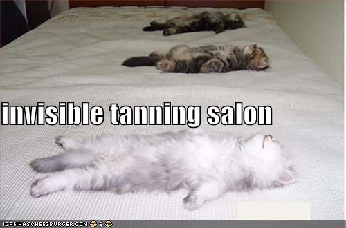 Invisible tanning salon.