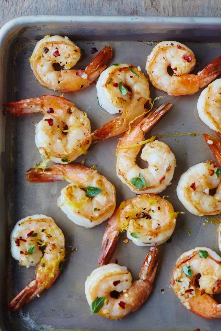 Roasted Lemon Oregano Shrimp are the best things to make for a totally customizable meal. Serve over whatever you're craving like pasta or polenta, or maybe couscouse for a flavorful dinner.