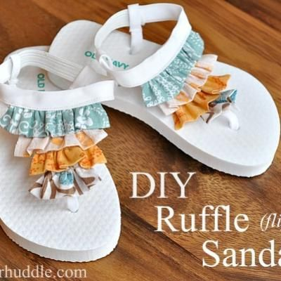 HOLY MOLY!!! Why didn't I think of this. You'd think with all the remakes I do, this would have crossed my mind right? Look out- cute DIY sandals are officially on the docket for my girls feet. I might even go whip some up this very second!