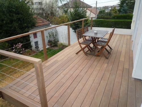 Fabulous Les 25 meilleures idées de la catégorie Garde corps terrasse bois  YW08