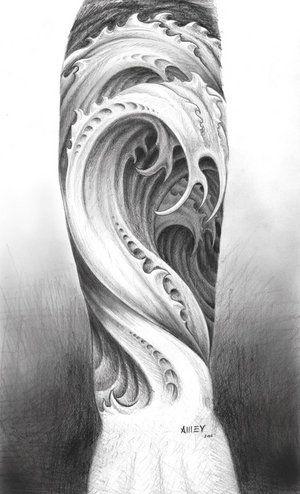 half sleeve ocean arm