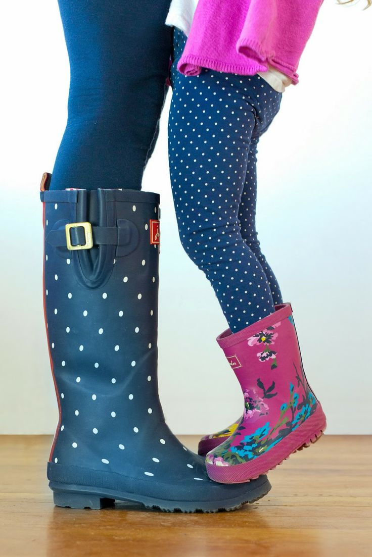 Rainboots for Mom & mini