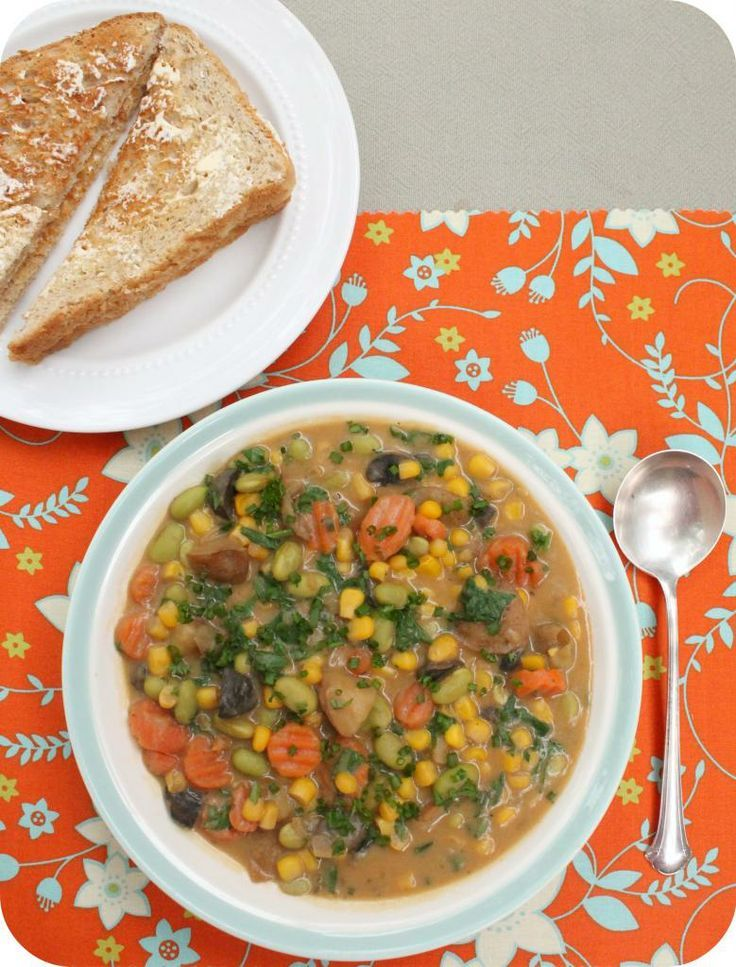 Vegan Slow Cooker Vegetable Chowder | Vegan - Hit the image to check out delectable vegetable crock-pot recipes