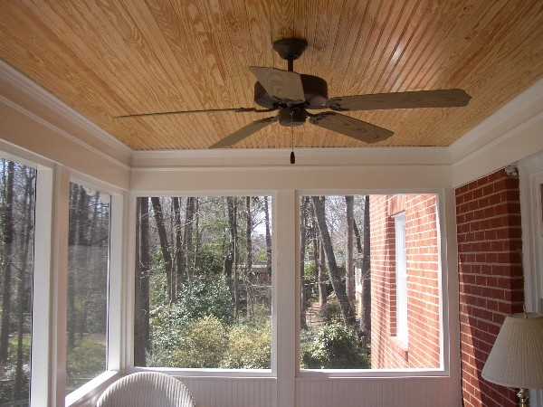 Beaded Porch Ceiling In Screened Porch Porch Ceiling