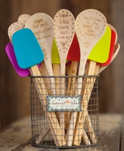 Fun  different kitchen tools  I d pair this with a tea towel from18 best kitchen tea party gifts images on Pinterest   Kitchen  . Gift Ideas For A Kitchen Tea Party. Home Design Ideas