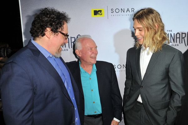 Austin Butler Photos - (L-R) Jon Favreau, author Terry Brooks and Austin Butler attend the series premiere party for 'The Shannara Chronicles' On MTV at iPic Theaters on December 4, 2015 in Los Angeles, California. - Series Premiere Party for 'The Shannara Chronicles' on MTV