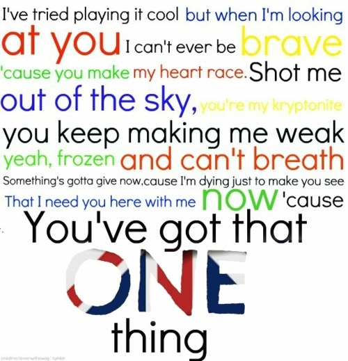 One Direction – One Thing Lyrics | Genius Lyrics