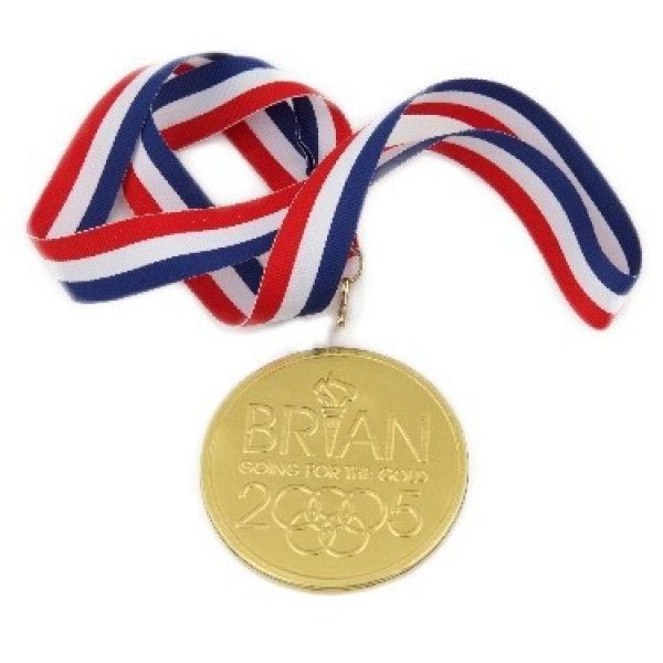 Milk chocolate medallion wrapped in bright foil ribbon which can actually be placed around the recipients neck is item for a winner for any award themed event or ocassion. Chocolate Medal with Ribbon