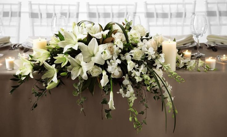 head table flower arrangements head table centerpiece. Black Bedroom Furniture Sets. Home Design Ideas