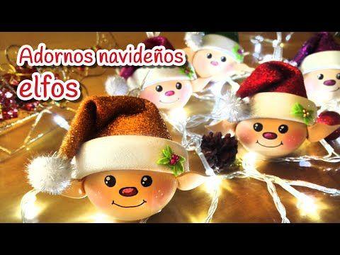 Manualidades para Navidad: Adornos navideños ELFOS - Innova Manualidades - YouTube