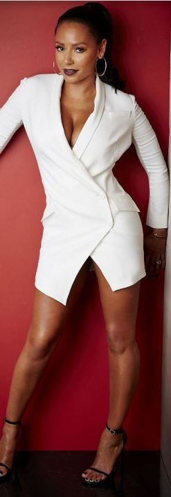 And of course there is the dress form of a tux. A great and leggy option. Mel B spiced things-up in this ensemble.