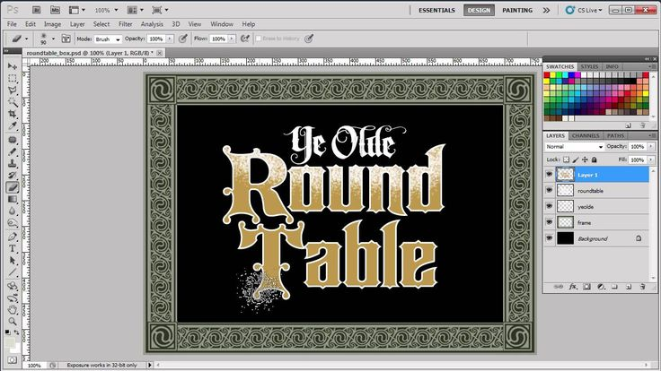 how to write rounded text in photoshop