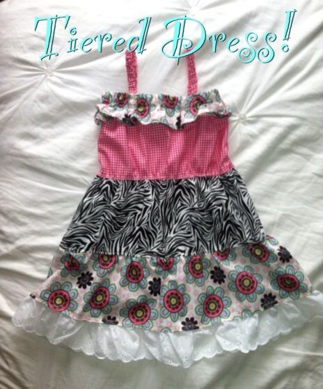I made this Tiered Dress using this tutorial as inspiration! There is a cool ruffle measurement calculator in the tutorial that is definitely worth saving for future projects. http://www.chicaandjo.com/wp-content/uploads/2009/05/skirt_chart.html