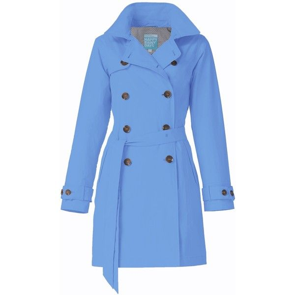Trenchcoat Bibi blue | HappyRainyDays ($165) ❤ liked on Polyvore featuring…