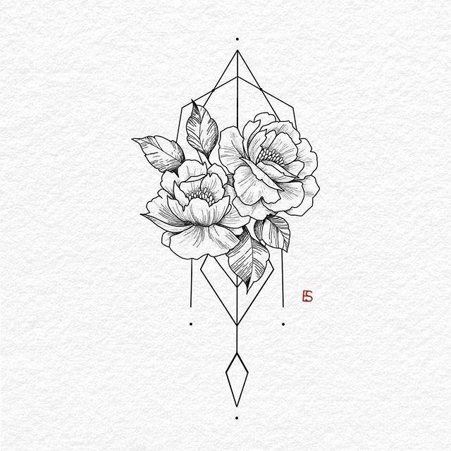Illustration de @ellastormtattoo | #blackworknow si vous voulez être une fonctionnalité …   – Flower Tattoo Designs