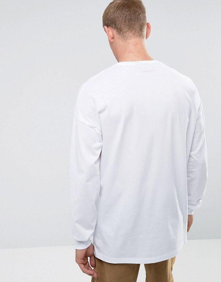 ASOS Beastie Boys Oversized Long Sleeve Band T-Shirt - White